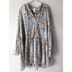 H&M wide-cut floral dress ||| Brand New |||